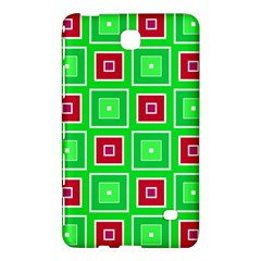 Green Red Squares Pattern    			samsung Galaxy Tab 4 (8 ) Hardshell Case by LalyLauraFLM