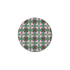 Pink Brown Flowers Pattern     			golf Ball Marker (4 Pack) by LalyLauraFLM