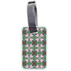 Pink Brown Flowers Pattern     			luggage Tag (one Side) by LalyLauraFLM