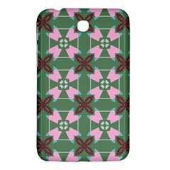 Pink Brown Flowers Pattern     			samsung Galaxy Tab 3 (7 ) P3200 Hardshell Case by LalyLauraFLM