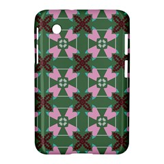 Pink Brown Flowers Pattern     			samsung Galaxy Tab 2 (7 ) P3100 Hardshell Case by LalyLauraFLM