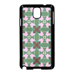 Pink Brown Flowers Pattern     			samsung Galaxy Note 3 Neo Hardshell Case (black) by LalyLauraFLM