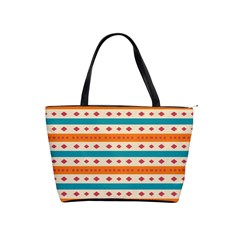 Rhombus And Stripes Pattern      Classic Shoulder Handbag by LalyLauraFLM