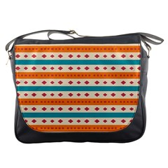 Rhombus And Stripes Pattern      			messenger Bag by LalyLauraFLM