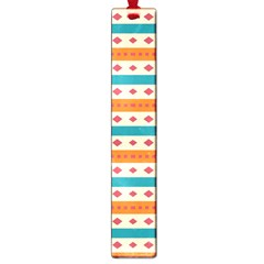 Rhombus And Stripes Pattern      			large Book Mark by LalyLauraFLM