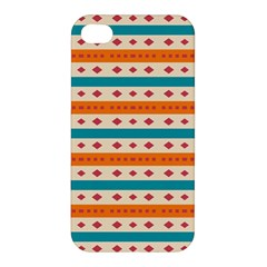 Rhombus And Stripes Pattern      			apple Iphone 4/4s Premium Hardshell Case by LalyLauraFLM