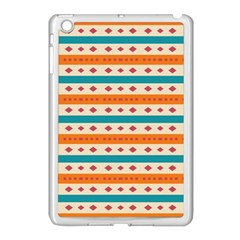 Rhombus And Stripes Pattern      			apple Ipad Mini Case (white) by LalyLauraFLM