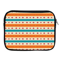 Rhombus And Stripes Pattern      			apple Ipad 2/3/4 Zipper Case by LalyLauraFLM