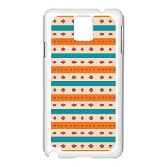Rhombus And Stripes Pattern      			samsung Galaxy Note 3 N9005 Case (white) by LalyLauraFLM
