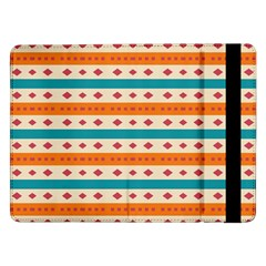 Rhombus And Stripes Pattern      			samsung Galaxy Tab Pro 12 2  Flip Case by LalyLauraFLM