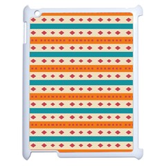 Rhombus And Stripes Pattern      			apple Ipad 2 Case (white) by LalyLauraFLM