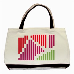 Vertical Stripes    			basic Tote Bag by LalyLauraFLM