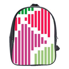 Vertical Stripes    			school Bag (large) by LalyLauraFLM