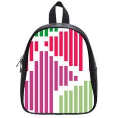 Vertical Stripes    			school Bag (small) by LalyLauraFLM
