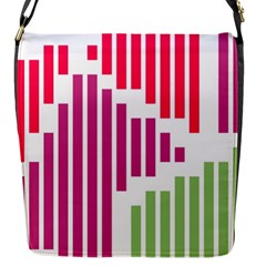 Vertical Stripes    			flap Closure Messenger Bag (s) by LalyLauraFLM