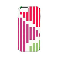 Vertical Stripes    			apple Iphone 5 Classic Hardshell Case (pc+silicone) by LalyLauraFLM