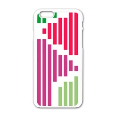 Vertical Stripes    			apple Iphone 6/6s White Enamel Case by LalyLauraFLM