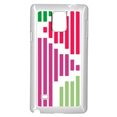 Vertical Stripes    			samsung Galaxy Note 4 Case (white) by LalyLauraFLM