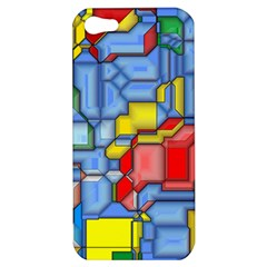3d Shapes 			apple Iphone 5 Hardshell Case by LalyLauraFLM