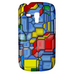 3d Shapes 			samsung Galaxy S3 Mini I8190 Hardshell Case by LalyLauraFLM