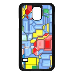 3d Shapes 			samsung Galaxy S5 Case (black) by LalyLauraFLM