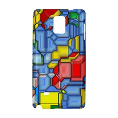 3d Shapes 			samsung Galaxy Note 4 Hardshell Case by LalyLauraFLM
