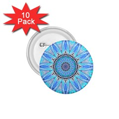 Sapphire Ice Flame, Light Bright Crystal Wheel 1 75  Buttons (10 Pack) by DianeClancy