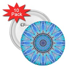 Sapphire Ice Flame, Light Bright Crystal Wheel 2 25  Buttons (10 Pack)  by DianeClancy