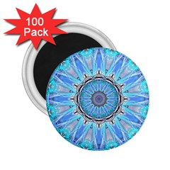 Sapphire Ice Flame, Light Bright Crystal Wheel 2 25  Magnets (100 Pack)  by DianeClancy