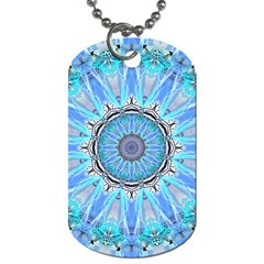 Sapphire Ice Flame, Light Bright Crystal Wheel Dog Tag (two Sides) by DianeClancy
