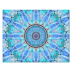 Sapphire Ice Flame, Light Bright Crystal Wheel Rectangular Jigsaw Puzzl by DianeClancy