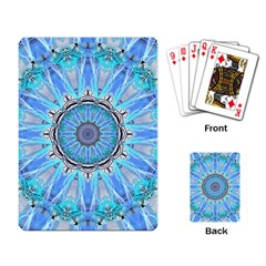 Sapphire Ice Flame, Light Bright Crystal Wheel Playing Card by DianeClancy