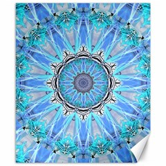 Sapphire Ice Flame, Light Bright Crystal Wheel Canvas 8  X 10  by DianeClancy