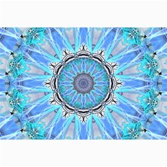 Sapphire Ice Flame, Light Bright Crystal Wheel Canvas 24  X 36  by DianeClancy
