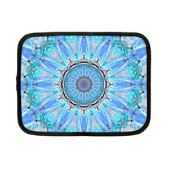 Sapphire Ice Flame, Light Bright Crystal Wheel Netbook Case (small)  by DianeClancy