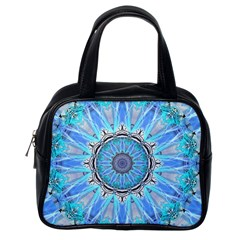 Sapphire Ice Flame, Light Bright Crystal Wheel Classic Handbags (one Side) by DianeClancy