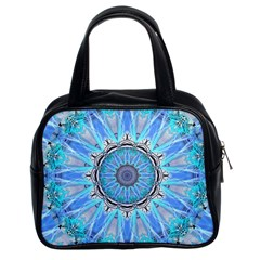 Sapphire Ice Flame, Light Bright Crystal Wheel Classic Handbags (2 Sides) by DianeClancy