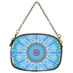 Sapphire Ice Flame, Light Bright Crystal Wheel Chain Purses (one Side)  by DianeClancy