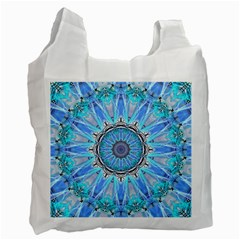 Sapphire Ice Flame, Light Bright Crystal Wheel Recycle Bag (two Side)  by DianeClancy