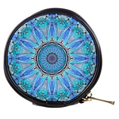 Sapphire Ice Flame, Light Bright Crystal Wheel Mini Makeup Bags by DianeClancy