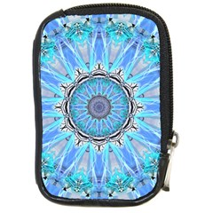 Sapphire Ice Flame, Light Bright Crystal Wheel Compact Camera Cases by DianeClancy
