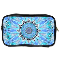 Sapphire Ice Flame, Light Bright Crystal Wheel Toiletries Bags 2 Side by DianeClancy