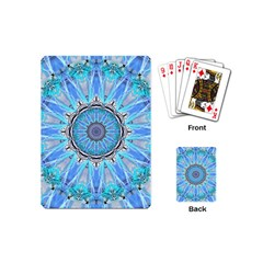 Sapphire Ice Flame, Light Bright Crystal Wheel Playing Cards (mini)  by DianeClancy