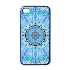 Sapphire Ice Flame, Light Bright Crystal Wheel Apple Iphone 4 Case (black) by DianeClancy