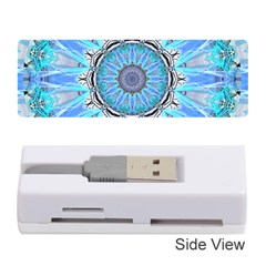 Sapphire Ice Flame, Light Bright Crystal Wheel Memory Card Reader (stick)  by DianeClancy