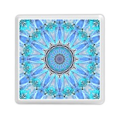Sapphire Ice Flame, Light Bright Crystal Wheel Memory Card Reader (square)  by DianeClancy