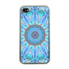 Sapphire Ice Flame, Light Bright Crystal Wheel Apple Iphone 4 Case (clear) by DianeClancy