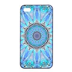 Sapphire Ice Flame, Light Bright Crystal Wheel Apple Iphone 4/4s Seamless Case (black) by DianeClancy