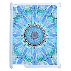 Sapphire Ice Flame, Light Bright Crystal Wheel Apple Ipad 2 Case (white) by DianeClancy