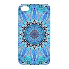 Sapphire Ice Flame, Light Bright Crystal Wheel Apple Iphone 4/4s Hardshell Case by DianeClancy